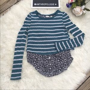 Anthropologie Postmark Layered Sweater XS